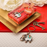 Exotic Indian Elephant copper key chain from fashioncraft