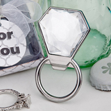 <em>Bling Collection</em> diamond ring bottle openers..