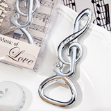 Musical note bottle opener favors