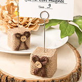 Rustic Burlap Place Card / Photo Holder