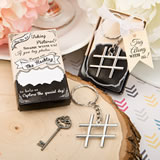 'Hashtag Love' collection chrome finish silver metal key chain
