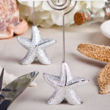 Shimmering starfish design place card holder favors