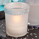 <em>Bling Collection</em> White Candle Holders