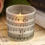 Musical note design candles