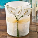 Gold Calla Lily design Votive candle holder