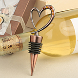 Vintage Copper Heart Bottle Stopper