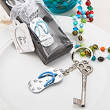 Beach Themed metal  Flip Flop Key Chain