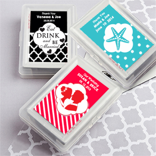 Playing Cards Favors - with Personalized Case.   Simply Stylish