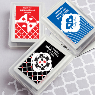 Simply Stylish Playing Card Favors - With Personalized Box