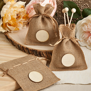 Perfectly Plain Collection Burlap Treat Bags