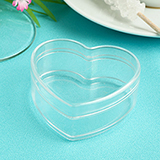 Heart Shaped Clear Plastic Box from the Perfectly Plain Collection