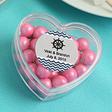 Personalized  Heart Shaped Plastic Box From the Design Your Own Collection