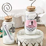 Personalized Wishing Glass Jar with Guardian Angel and Photo Holder