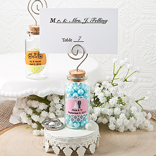 Personalized Perfectly Plain Glass Jar with place card holder