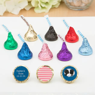 Premium Personalized Hershey's® Kisses® with Colored Foil Wrappers