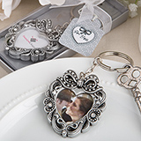 Vintage heart photo key chain