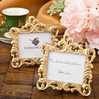 Gold Baroque style frame favor from fashioncraft