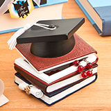 Graduation hat and books trinket box from Gifts By Fashioncraft