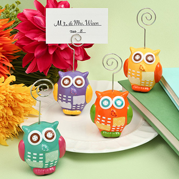 Owl design place card/photo holders