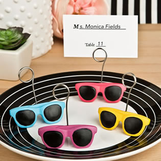 Sunglasses design placecard or photo holders from fashioncraft
