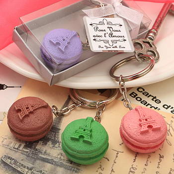Adorable macaron design key chain favors