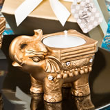 Gold Good luck Indian Elephant candle holder from fashioncraft