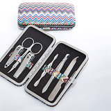 Premier Favor Collection Chevron Design Travel Manicure Set
