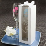 White Gift Box For Personalized Champagne Flutes