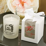 White Gift Box For Personalized Shot Glass / Votive Candle Holder