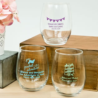 Expressions Collection 15oz Stemless wine glasses
