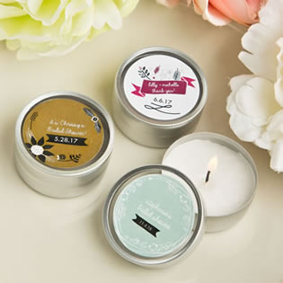 Vintage Design Collection scented round travel candles