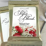 Personalized Flower Theme Coffee Favors, Gold Bag - (16 designs available)