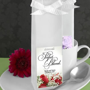 Flower Themed Personalized Coffee Wedding Favors