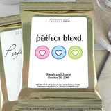 Personalized Heart Theme Coffee Favors, Gold Bag - (4 designs available)