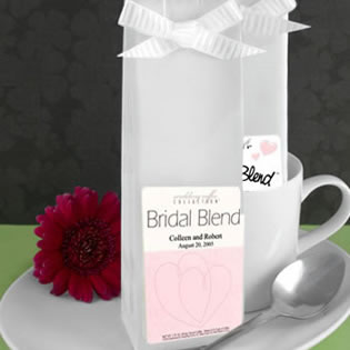 Heart Themed Personalized Coffee Wedding Favors