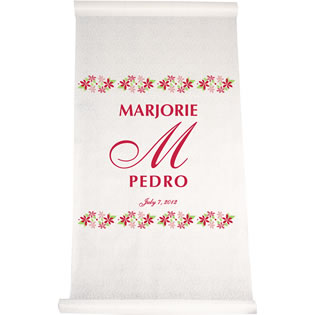 Flower Border Aisle Runner