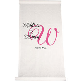 Elegant Names and Initial Aisle Runner