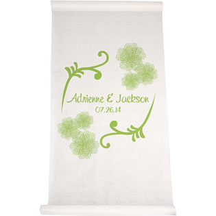 Fancy Flowers Aisle Runner