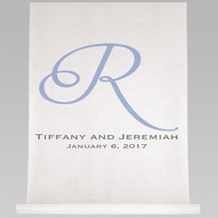 Single Initial, Names and Date Aisle Runner