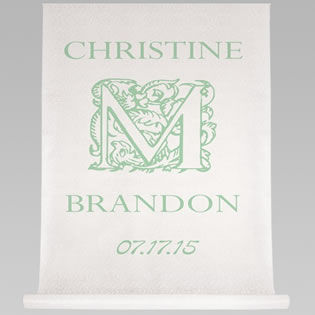 Ornate Initial Aisle Runner