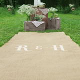 Personalized Screen-Printed Initial Burlap Aisle Runner