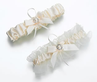 Lillian Rose Set of 2 Ivory Pearl Wedding Garters