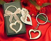 Heart shaped keychain wedding favors
