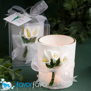 Calla Lilly Candle Favors