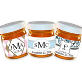 Personalized Monogram Honey Jar Wedding Favors (34 Designs Available)