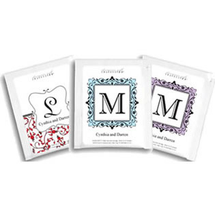 Personalized Monogram Tea Wedding Favors - Single-Letter (9 Designs Available)
