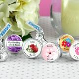 Flower Spring Theme Hersheys Kiss Wedding Favors 15 Designs Available