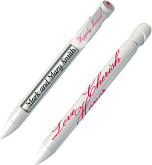 Wedding Pens - Love, Cherish & Honor (White)