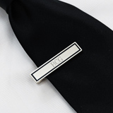 Black Border Designer Tie Clip<br><i>(OUT OF STOCK, Available 10/28)</i>