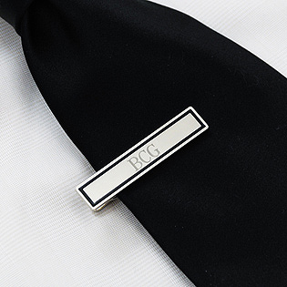 Black Border Designer Tie Clip  (OUT OF STOCK, Available 10/28)